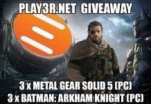 Win 3 x Metal Gear Solid V & 3 x Batman: Arkham Knight PC Codes (Worldwide)