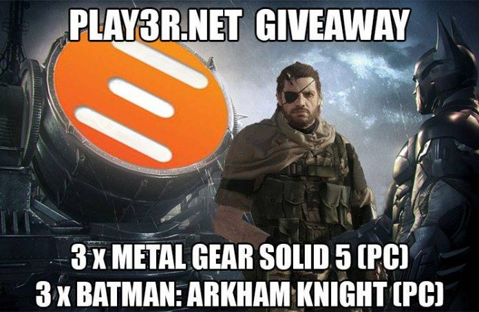 Win 3 x Metal Gear Solid V & 3 x Batman: Arkham Knight PC Codes (Worldwide)