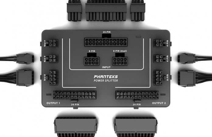Phanteks PH-PWSPR_1P2M Universal Power Splitter Announced Along With 500mm Extension Cables