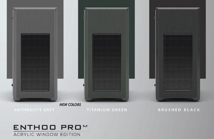 New Phanteks' Enthoo Pro M Acrylic Titanium Green and Anthracite Grey Edition 2