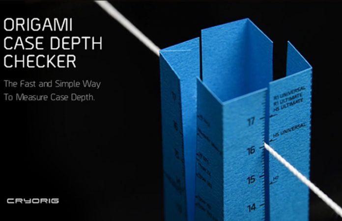CRYORIG Creates Easy To Use Origami Case Depth Checker 2