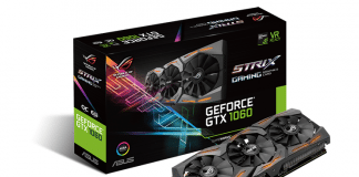ASUS Republic of Gamers Announces Strix GeForce GTX 1060 3