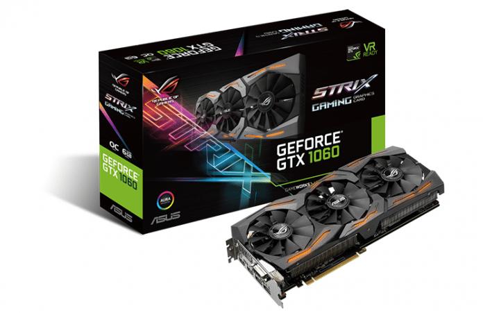 ASUS Republic of Gamers Announces Strix GeForce GTX 1060 3