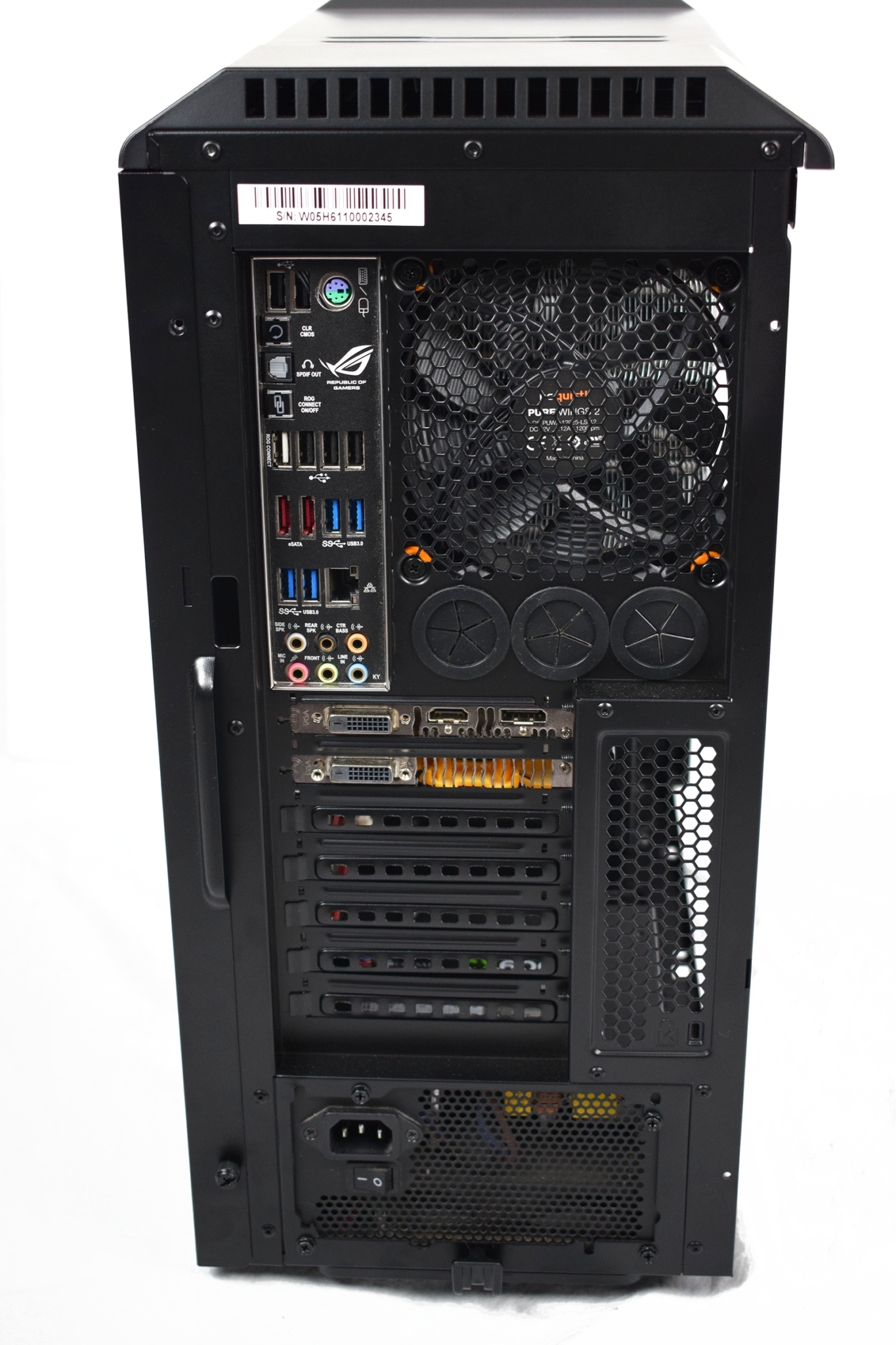 BeQuiet! Silent Base 600 Case rear