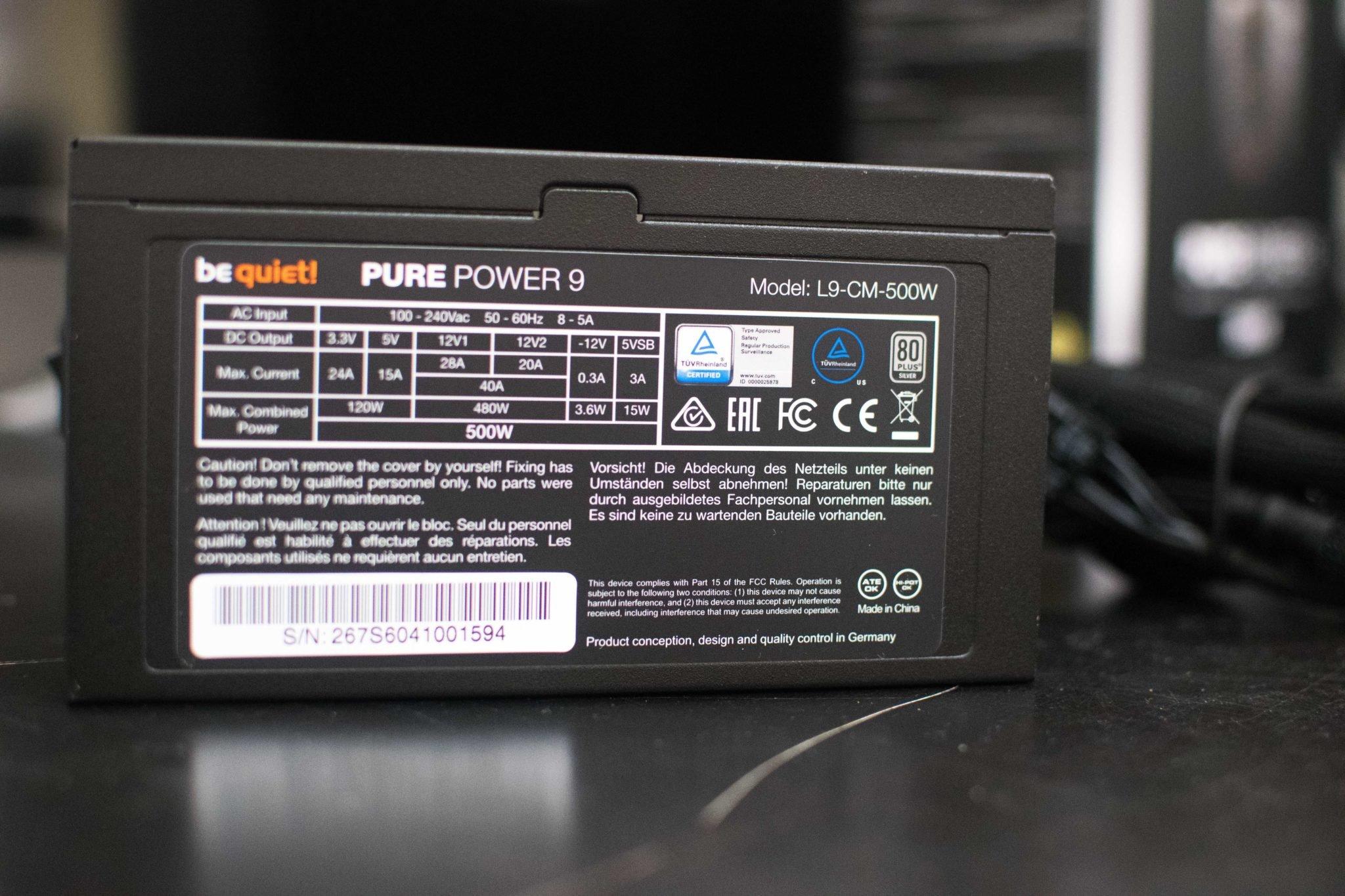 be quiet! Pure Power 9 500w PSU