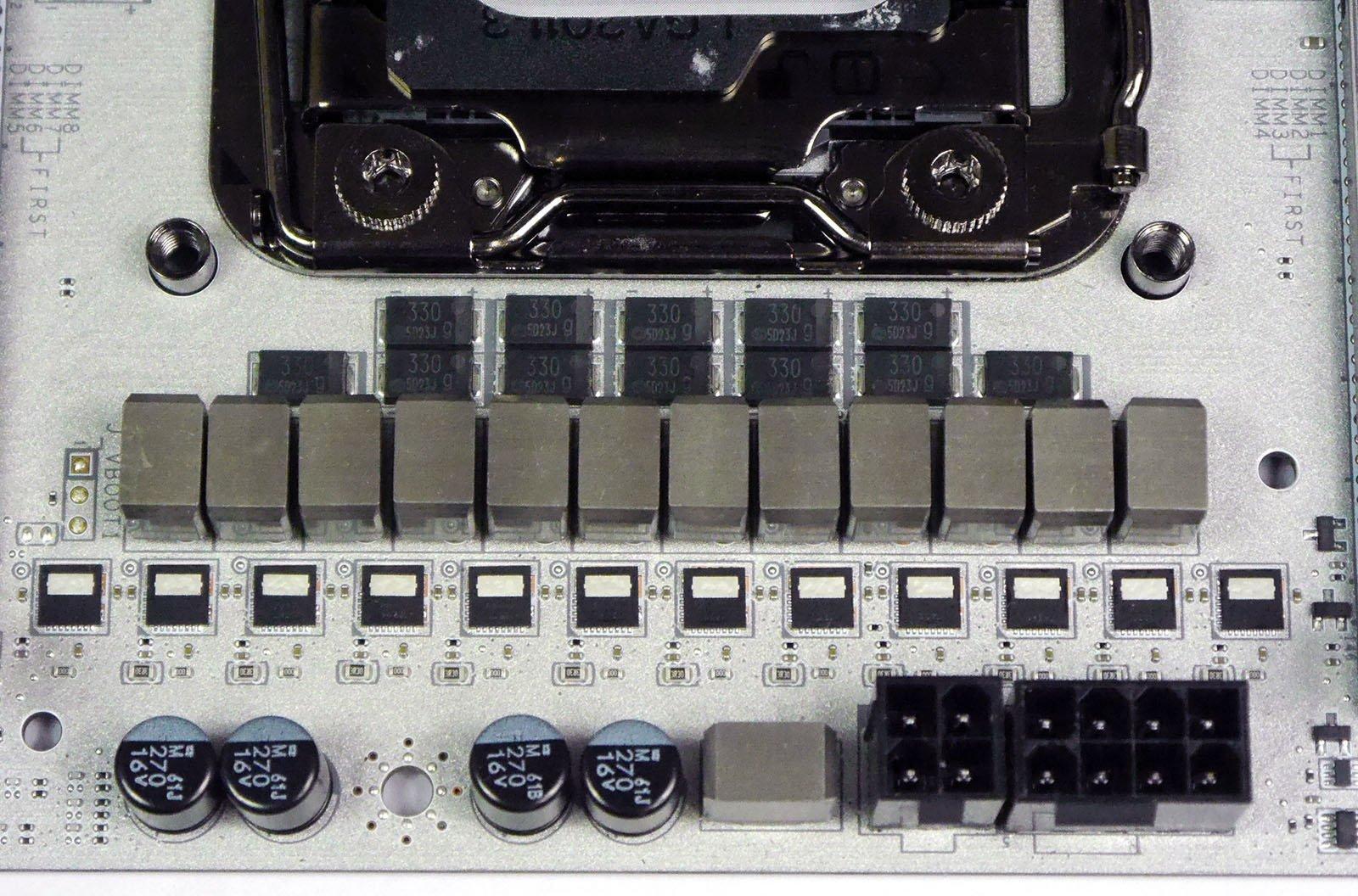 MSI X99A XPOWER Titanium - VRMs