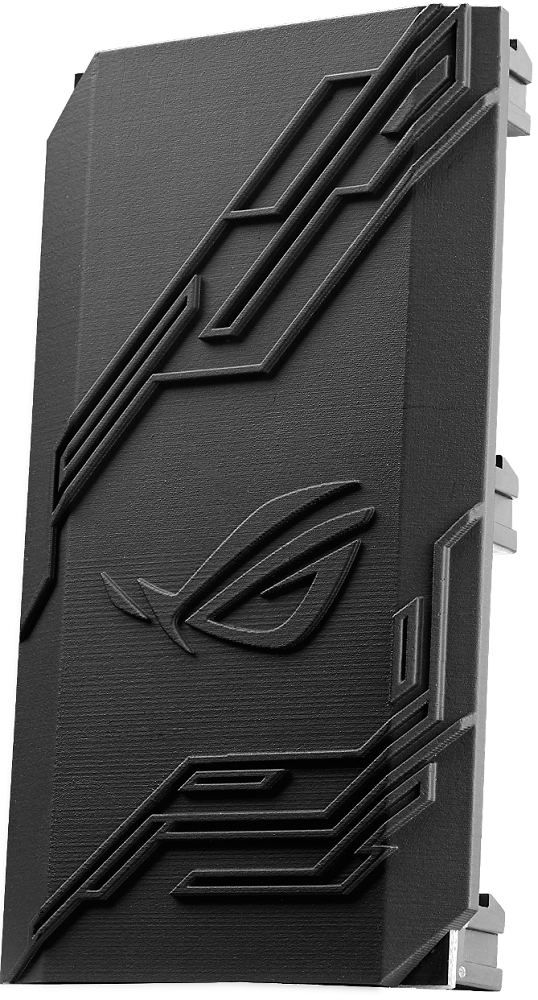 3D-printed ROG SLI bridge cover