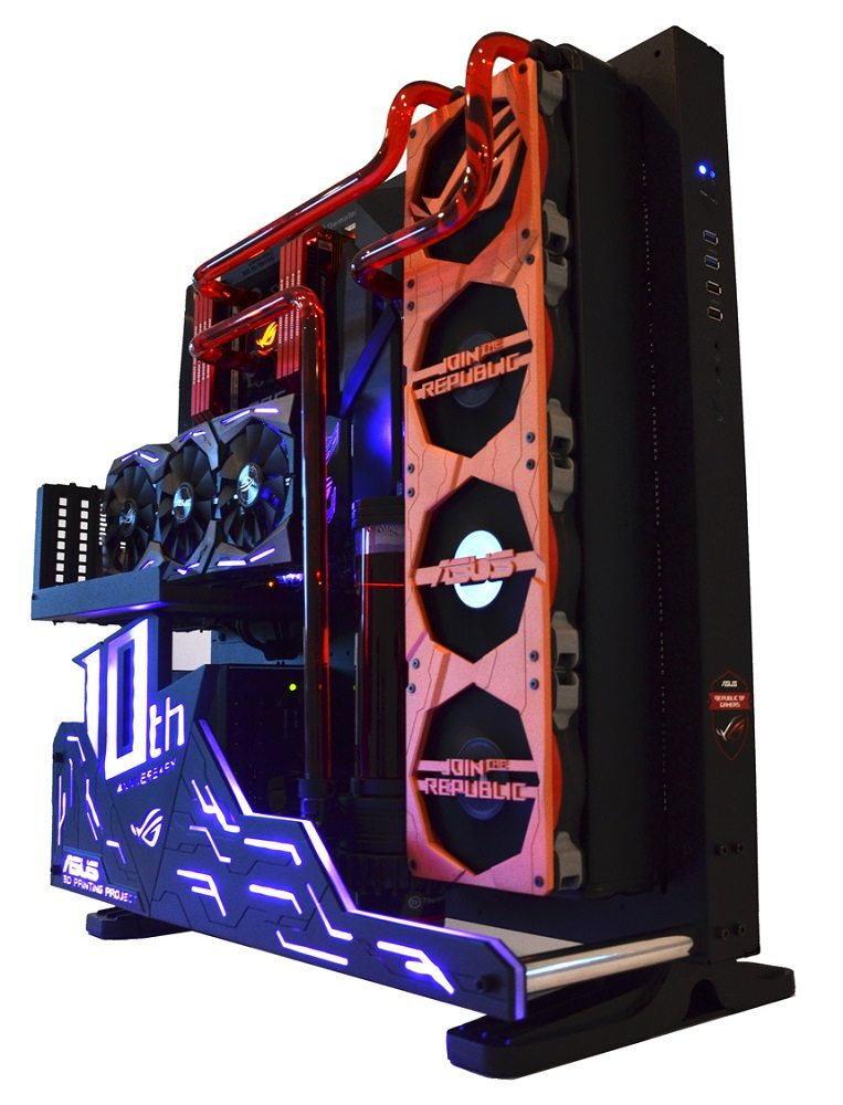 Asus Showcase 3d Printed Parts And Aura Enabled Components