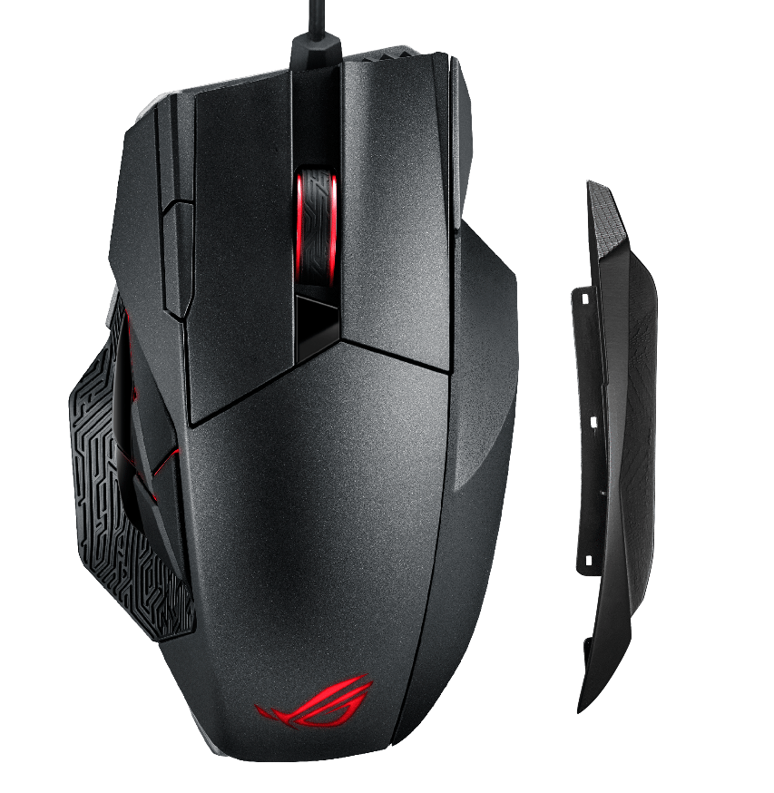 ROG Spatha with 3D printed side right side panel