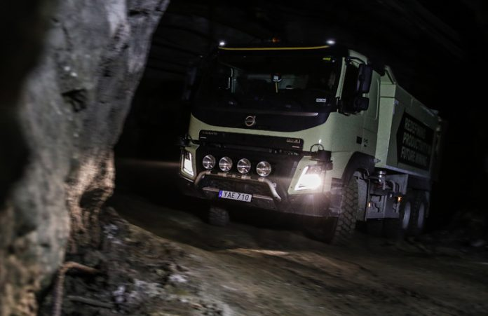 Volvo World First: Self-Driving Truck in Underground Mine