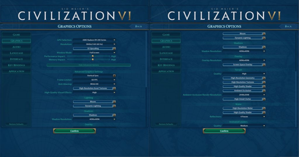 how to set up civilization to win option
