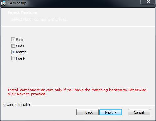 NZXT Cam Install Screenshot
