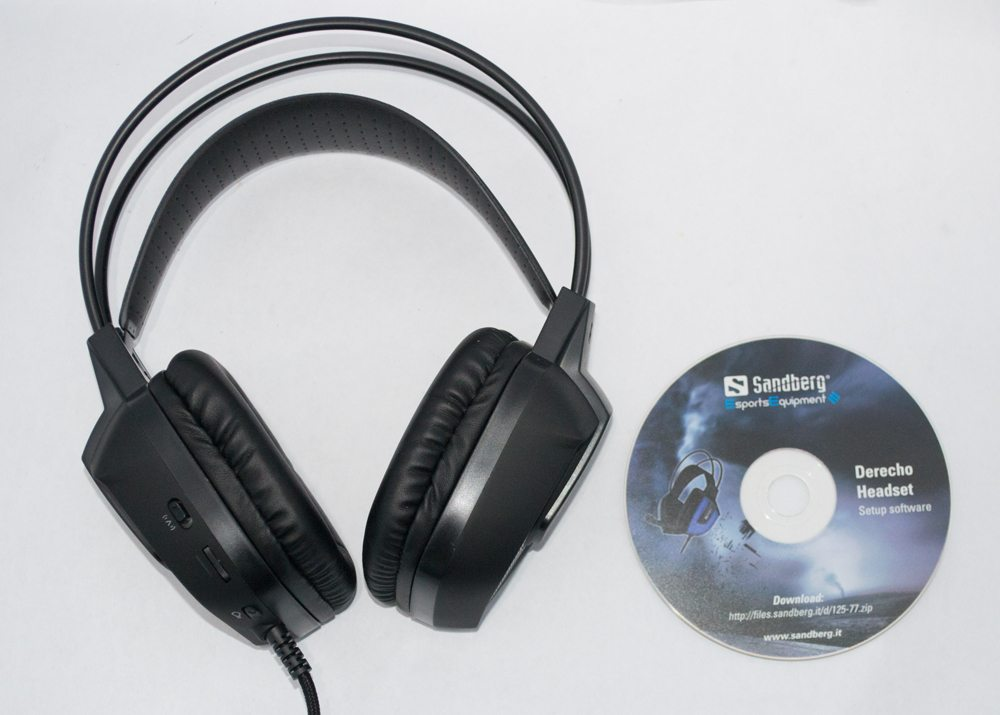 Sandberg Derecho Gaming Headset contents
