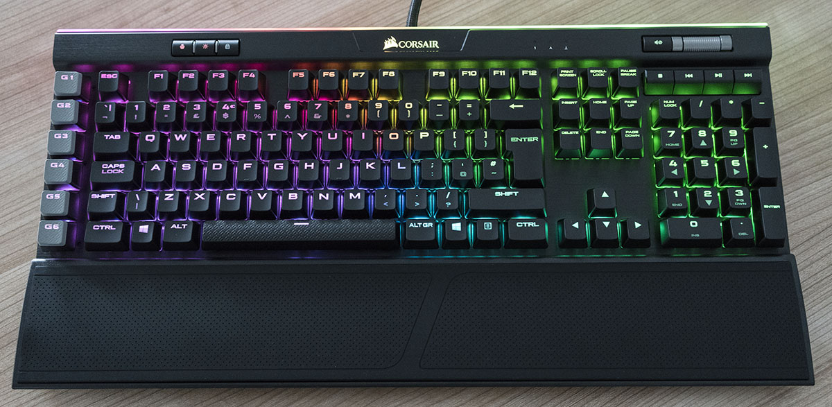 corsair k95 platinum lights