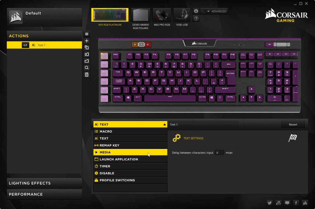 corsair k95 platinum software 1