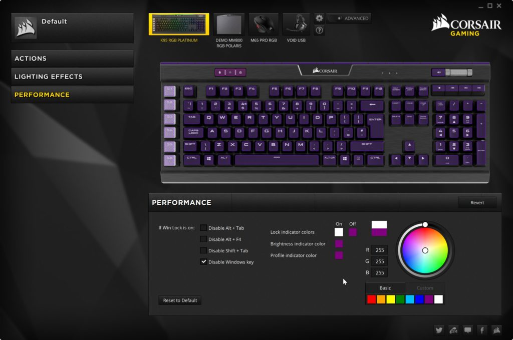 corsair k95 platinum software 4