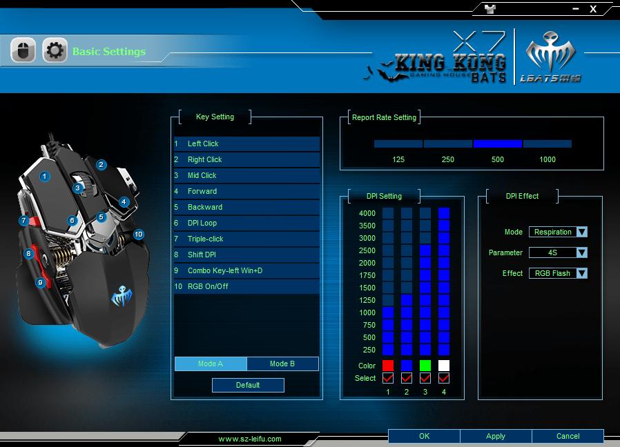 LBATS X7 basic menu