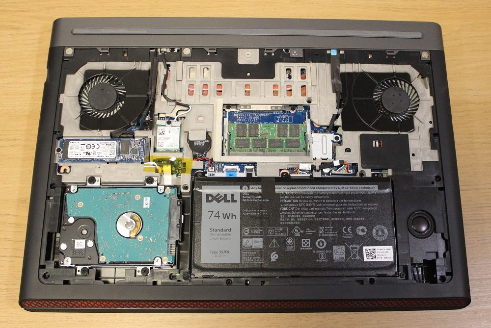 dell inspiron 15 7000 inside