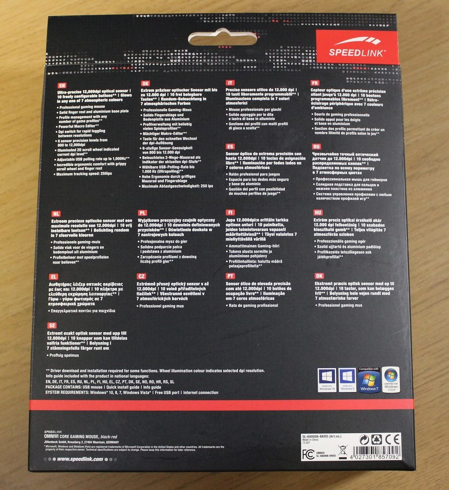 speedlink omnivi box back