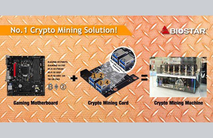 BIOSTAR Releases Accessory to Convert Your Gaming PC into a Professional Mining Rig