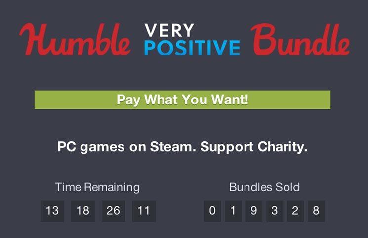 Humble Bundles Very Positive Bundle Now Live