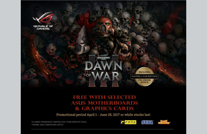 ASUS Dawn of War Motherboard Promo