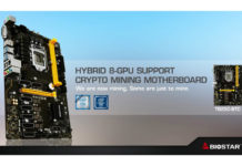 BIOSTAR 8-Slot PCI-e Mining Motherboard Feature