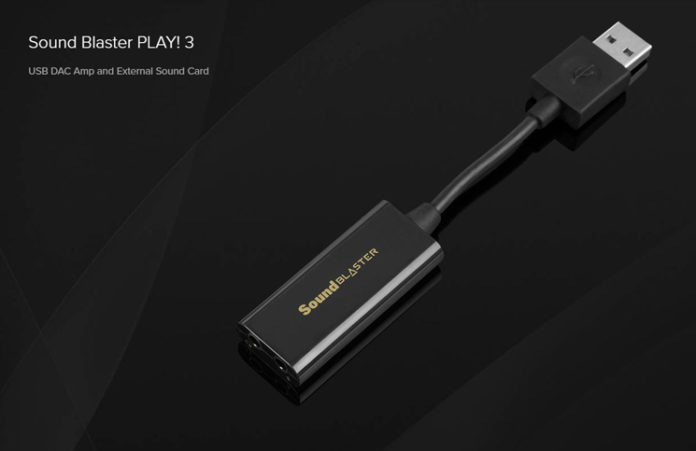 Sound Blaster PLAY 3 Feature
