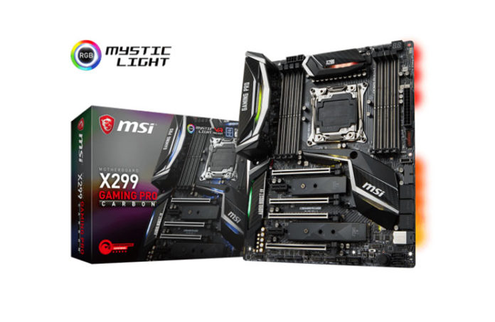 MSI X299 Gaming Pro Carbon Motherboard