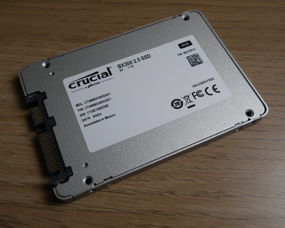 Crucial BX300 480GB label