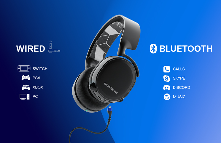 steelseries announce new arctis 3 bluetooth headset play3r. Black Bedroom Furniture Sets. Home Design Ideas