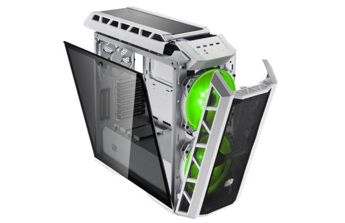 H500P MESH WHITE_45degree-01-open-light_Green Feature