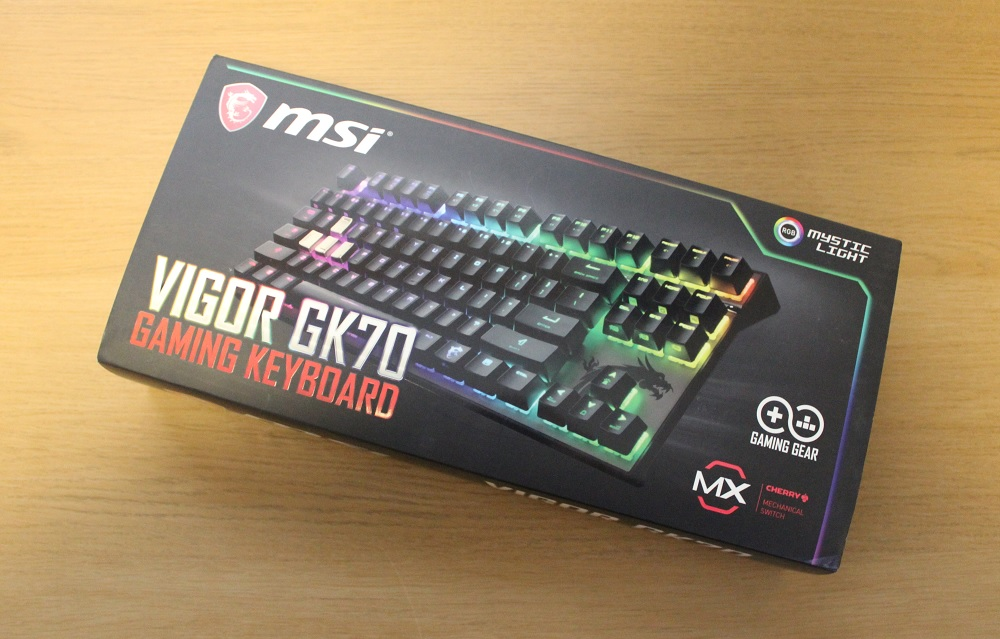 MSI Vigor GK70 Box Front