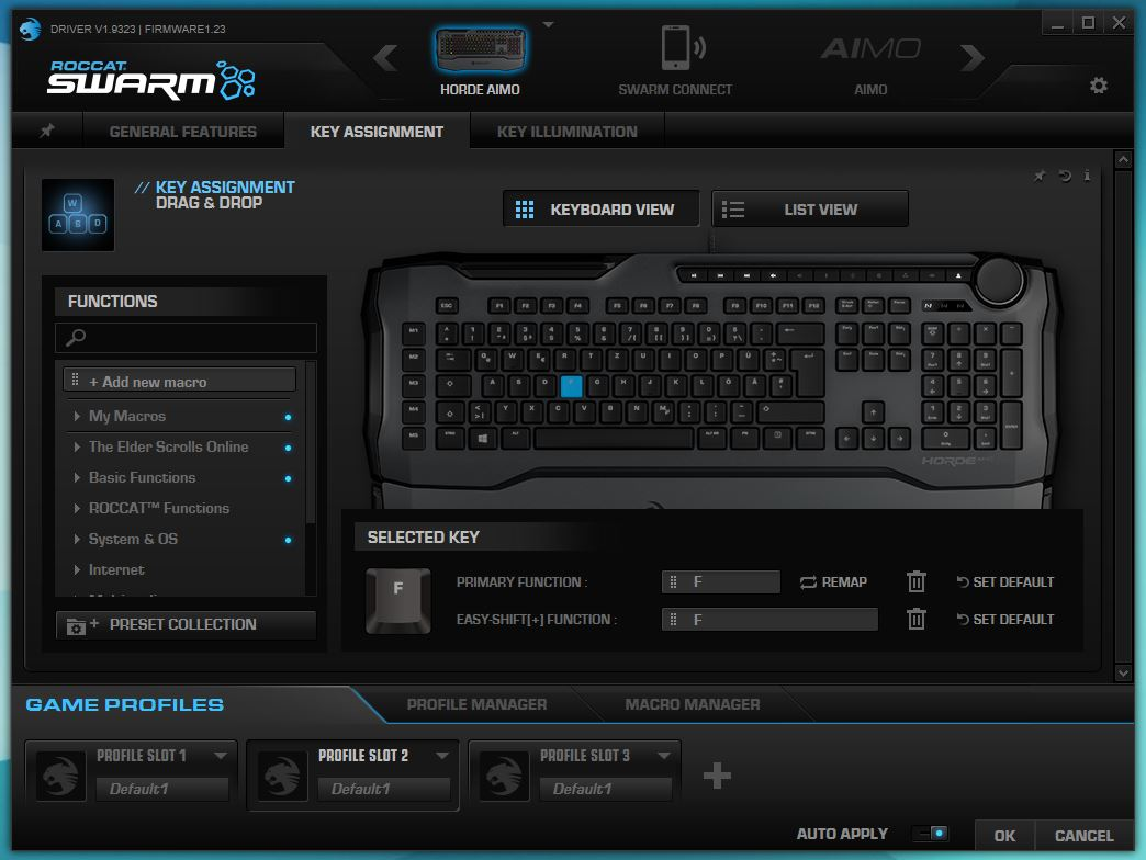 ROCCAT SWARM Key Assignment