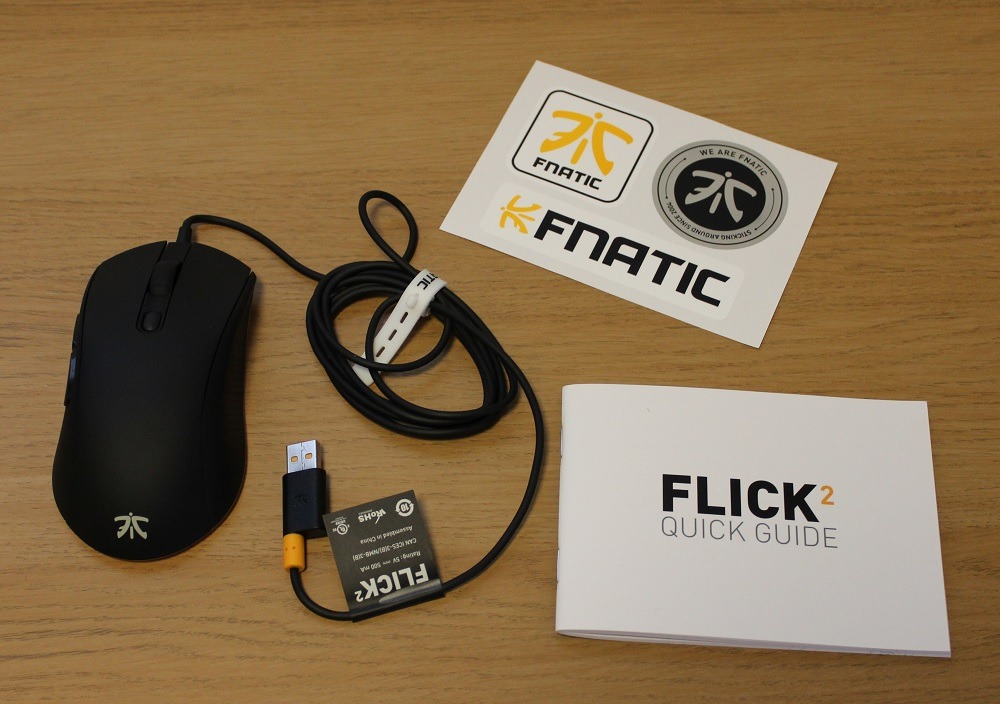 Fnatic Flick 2 Mouse box contents