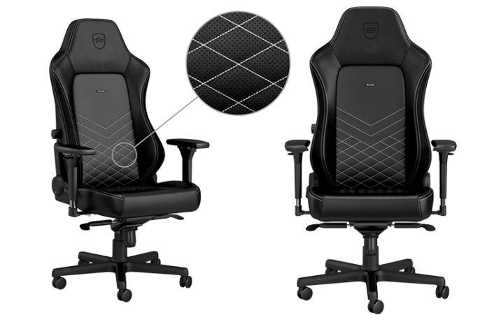 noblechair HERO Black and White Feature