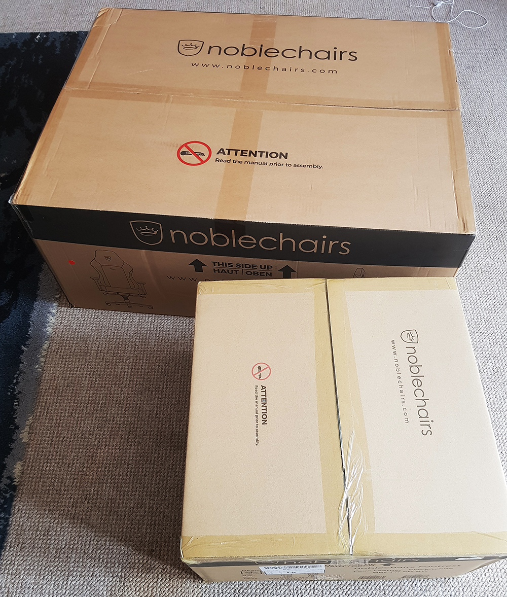 noblechair HERO packaging