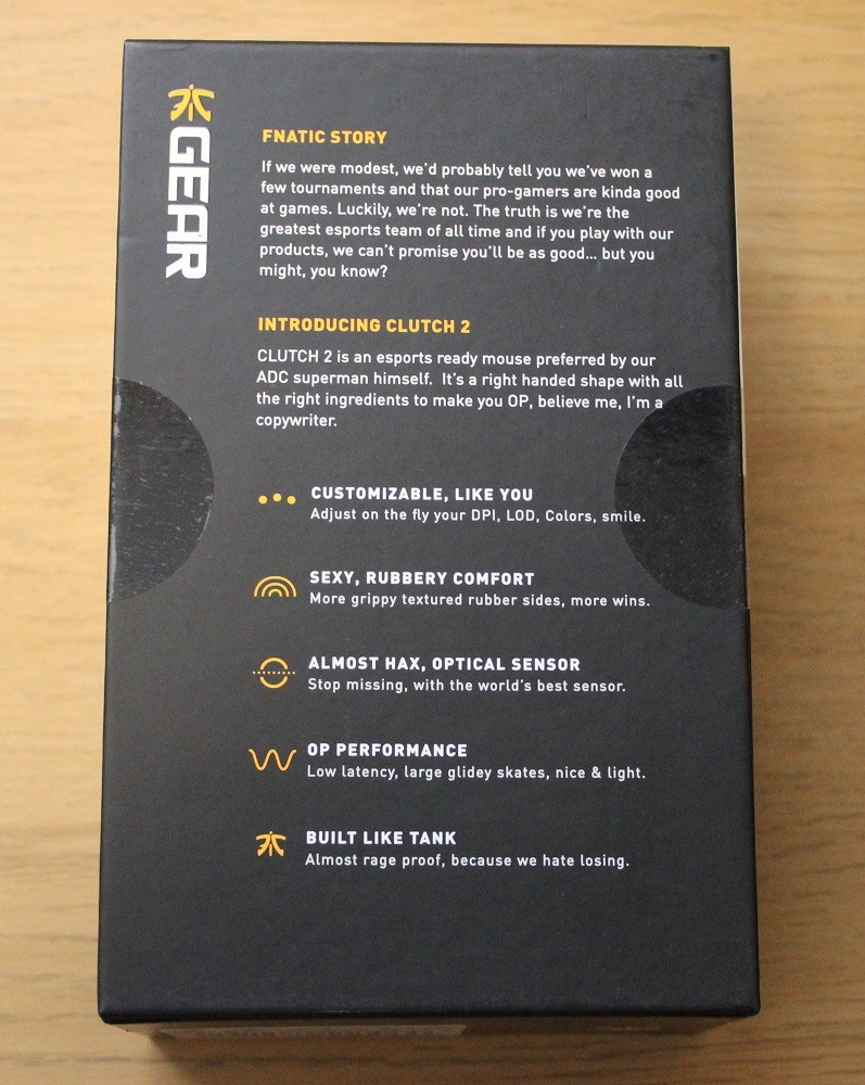Fnatic Clutch 2 Gaming Mouse Review Play3r Byo Shell In Matte Burgundy Box Bottom