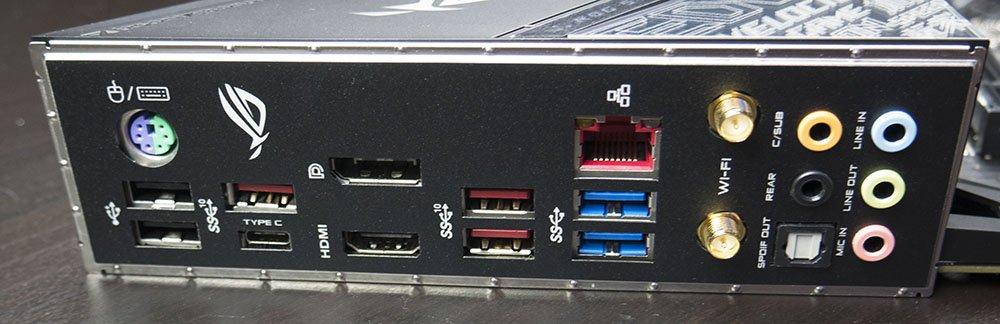 ASUS ROG STRIX Z390-E Gaming Motherboard Rear IO