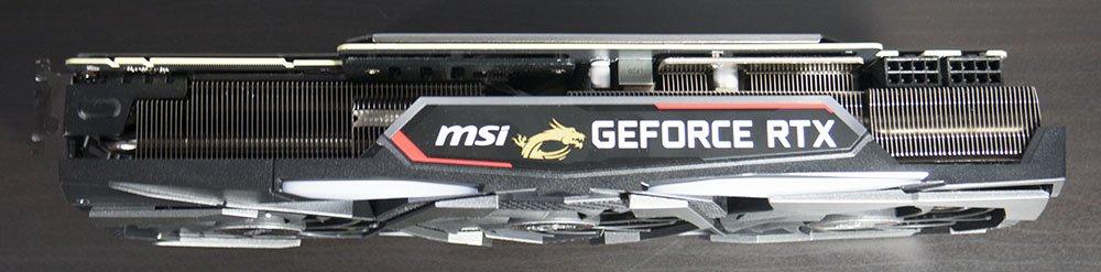 MSI RTX 2080 Gaming X Trio Graphics Card Cooler Edge
