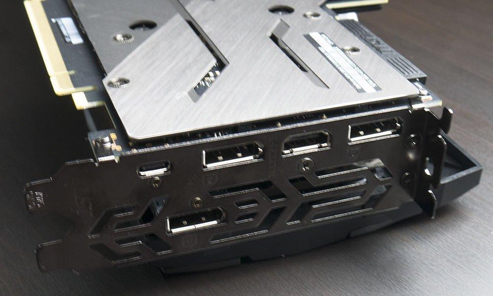 MSI RTX 2080 Ti Gaming X Trio Graphics Card Connectors