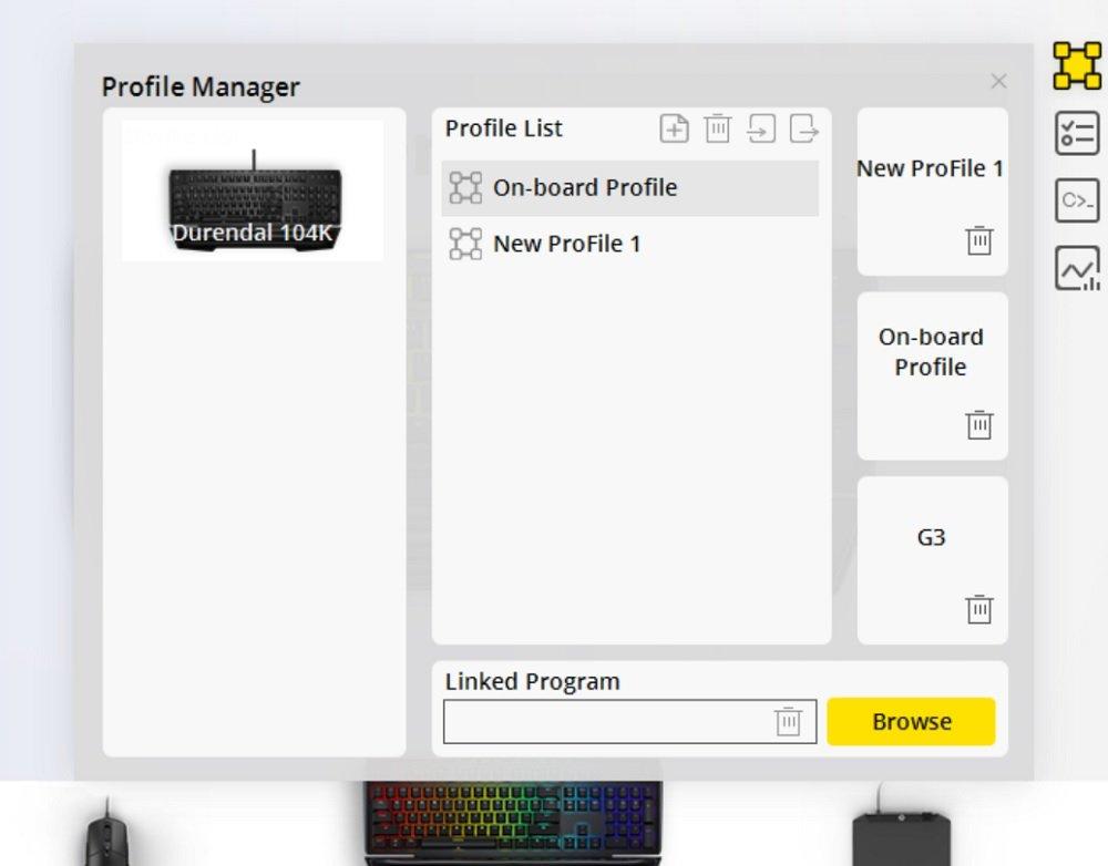 durendal power console profiles